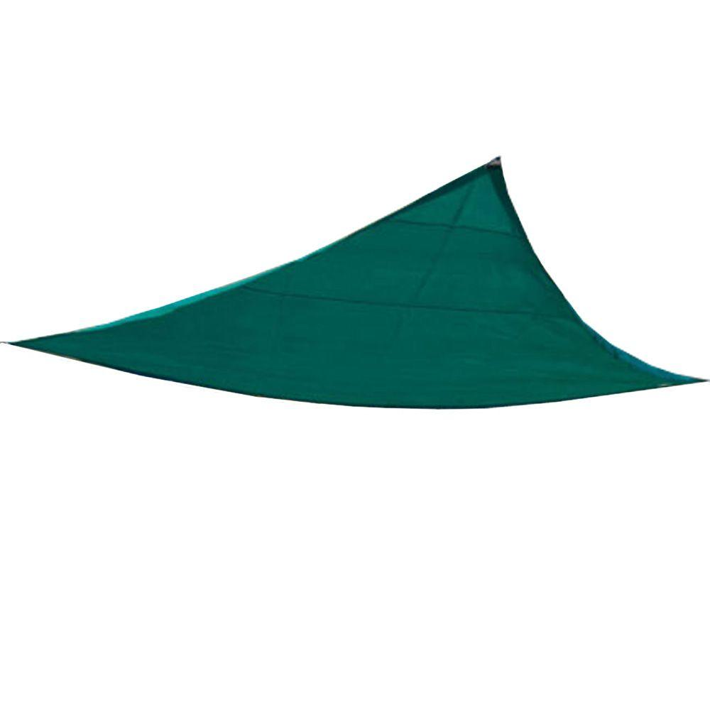 King Canopy 10 ft. W x 10 ft. D Green Triangle Sun Shade ...