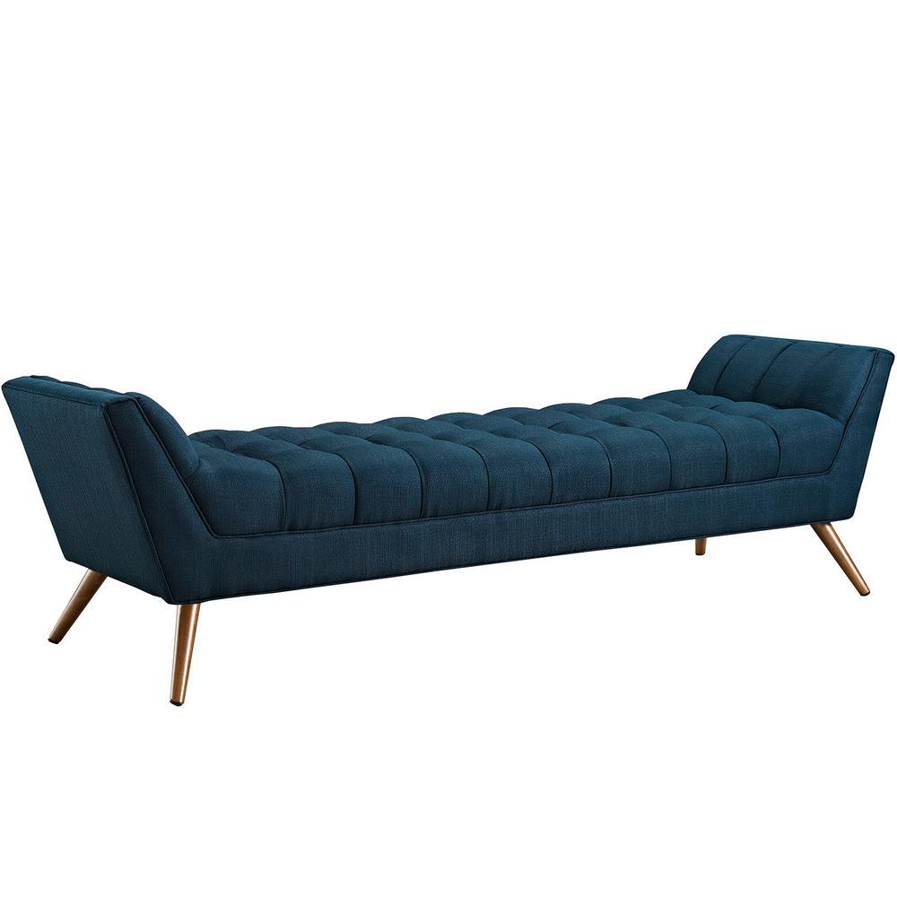 Azure Response Upholstered Fabric Bench