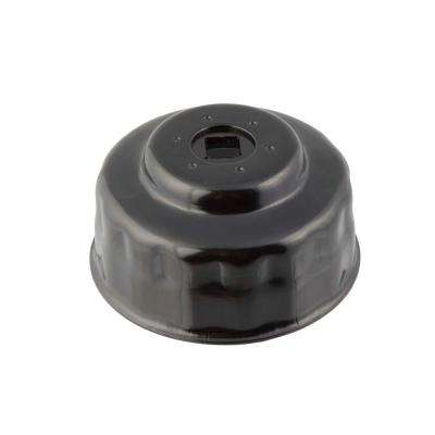 74 mm x 15 Flute Oil Filter Cap Wrench in Black