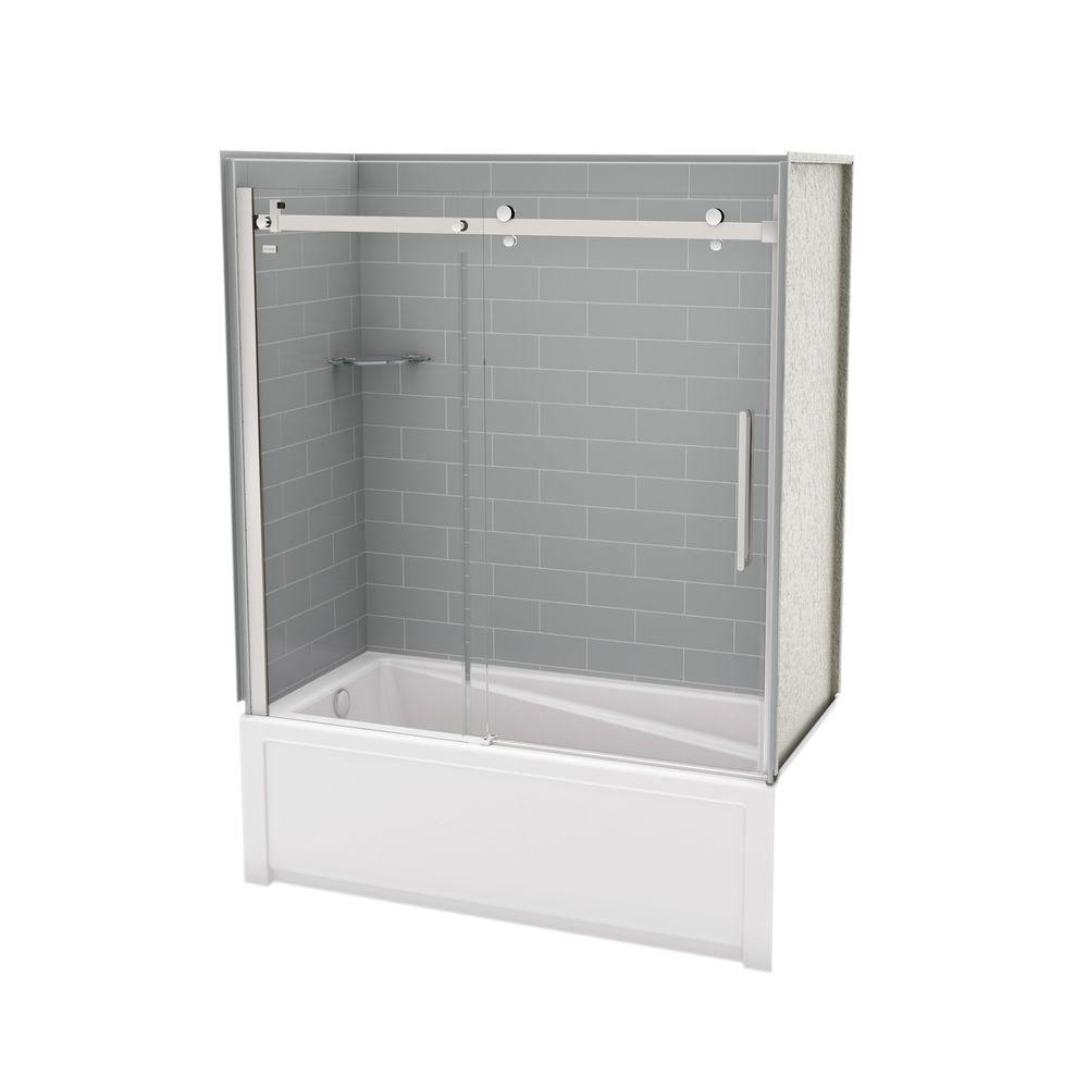 Utile by MAAX 30 in. x 59.75 in. x 81.375 in. Direct-to-Stud Tub ...