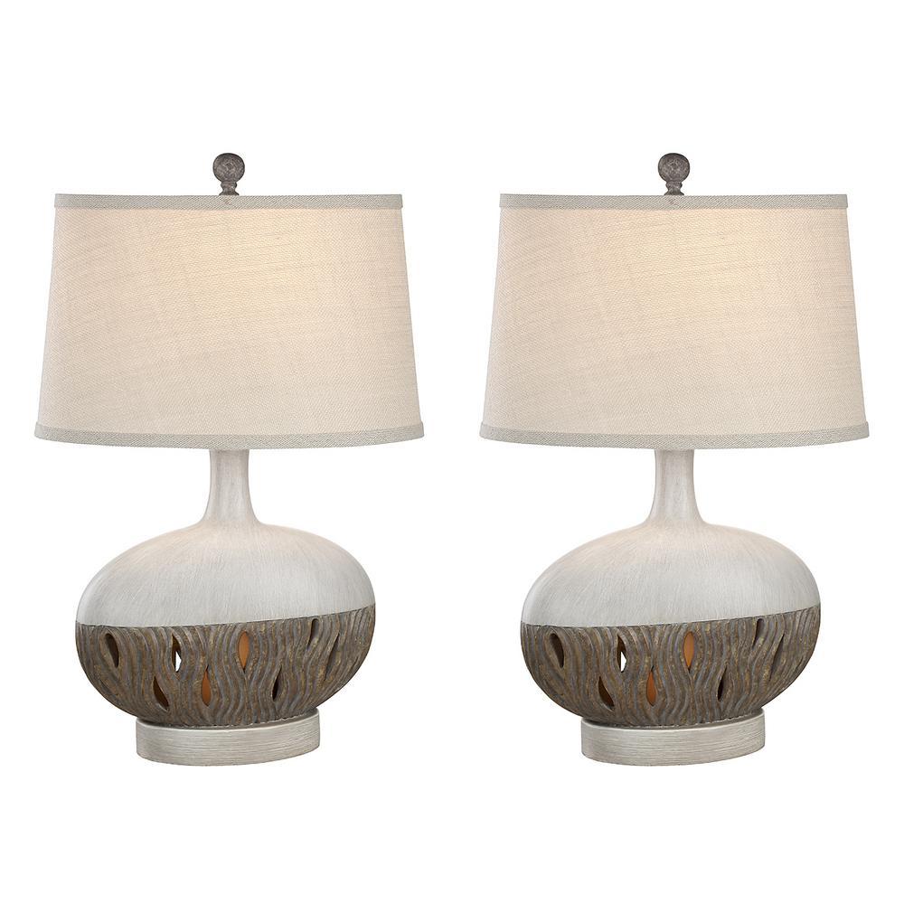 26 in. Husk Indoor Table Lamp Set