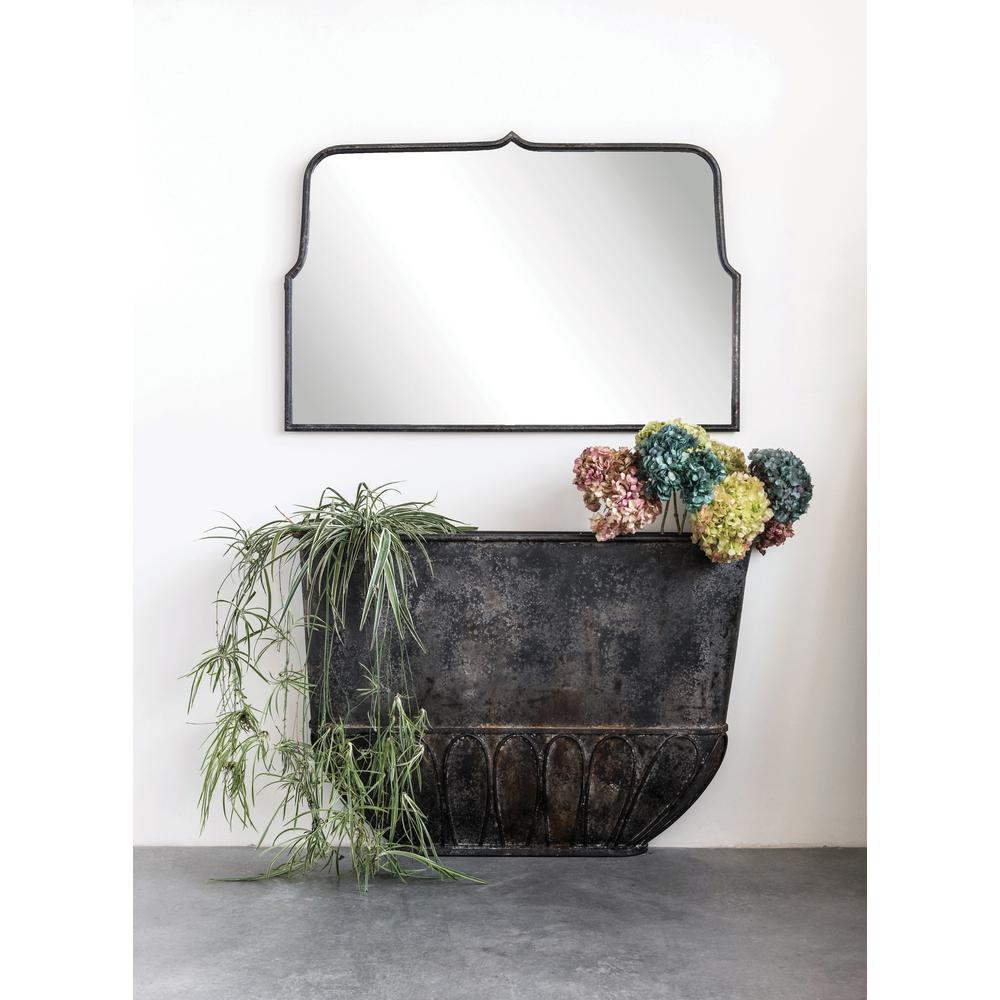 3R Studios Rectangle Distressed Black Metal Framed Decorative Wall Mirror was $389.99 now $238.33 (39.0% off)