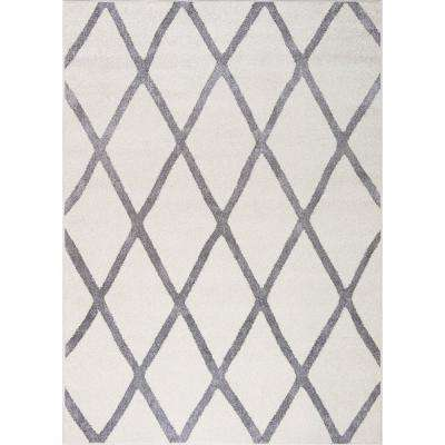 Charlotte Collection Diamond Ivory 7 ft. 10 in. x 9 ft. 10 in. Area Rug