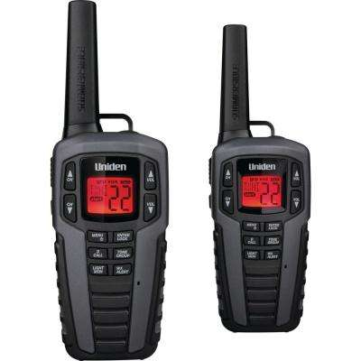 37-Mile 2-Way FRS/GMRS Radios in Gray (2-Pack)