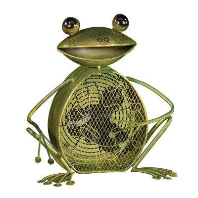 7 in. Figurine Fan-Frog