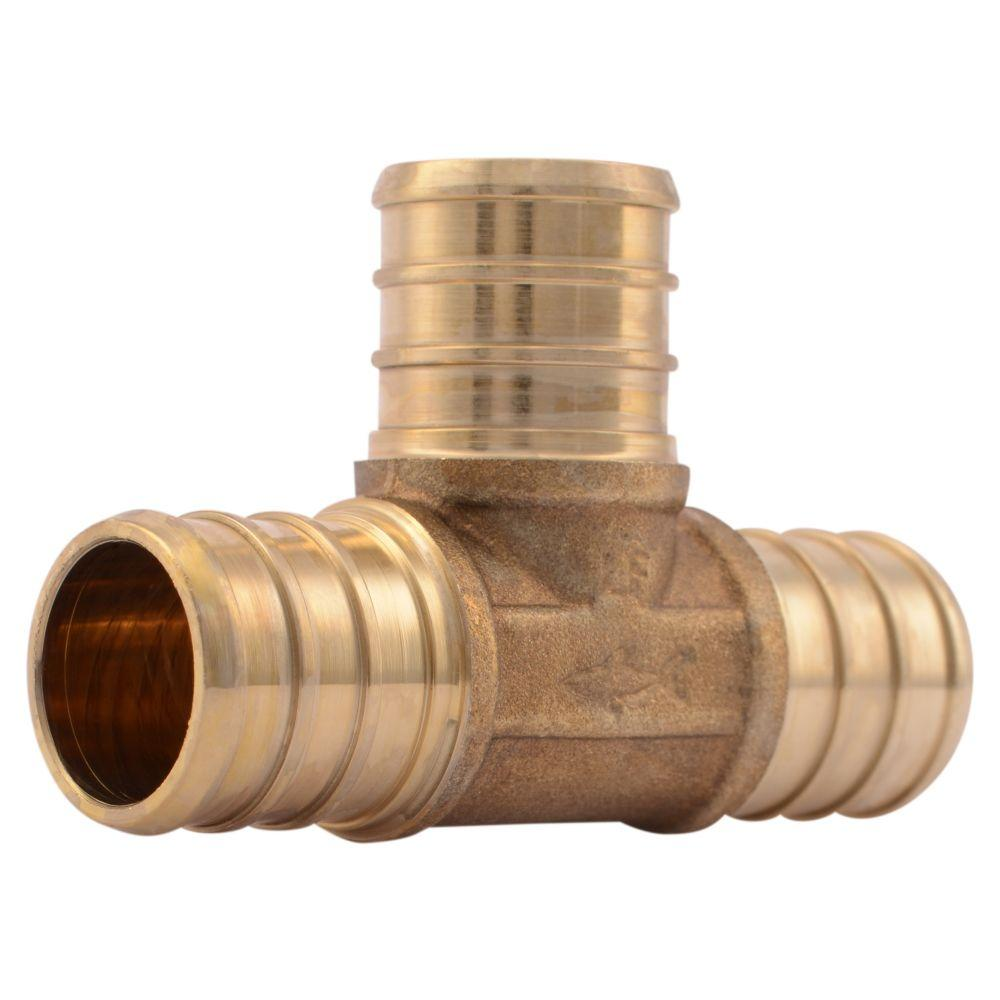 null 3/4 in. Brass PEX Barb Tee
