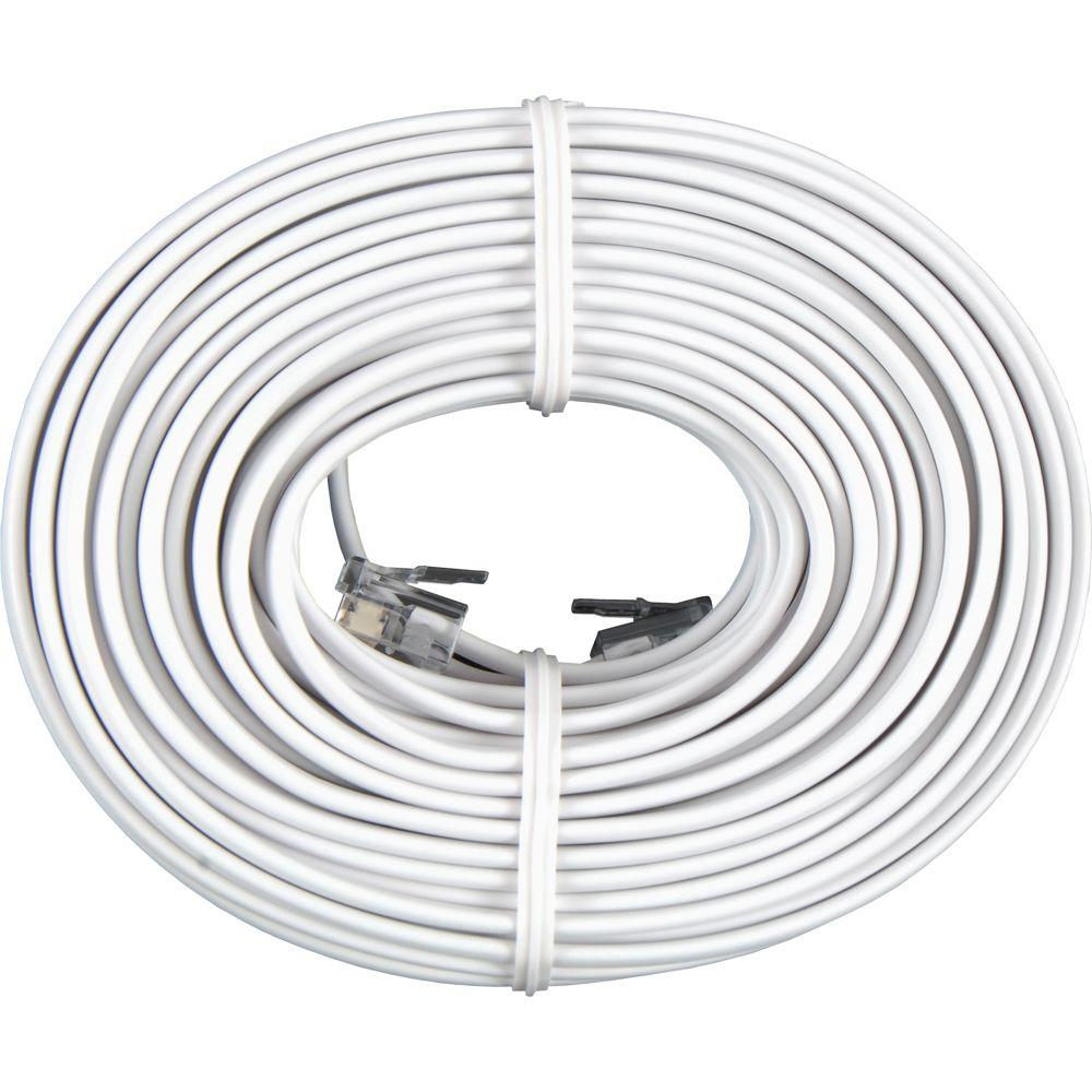 Power Gear 50 ft. Phone Line Cord, White