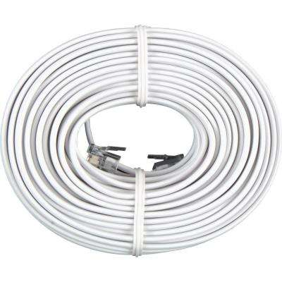 50 ft. Phone Line Cord, White