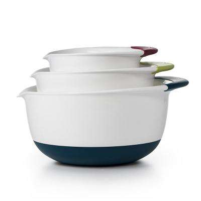 Good Grips 3-Piece Mixing Bowl Set in Navy, Green, Eggplant