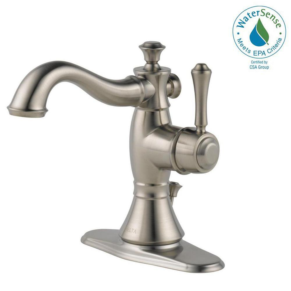 Cassidy Single Hole Single-Handle Bathroom Faucet with Metal Drain Assembly in