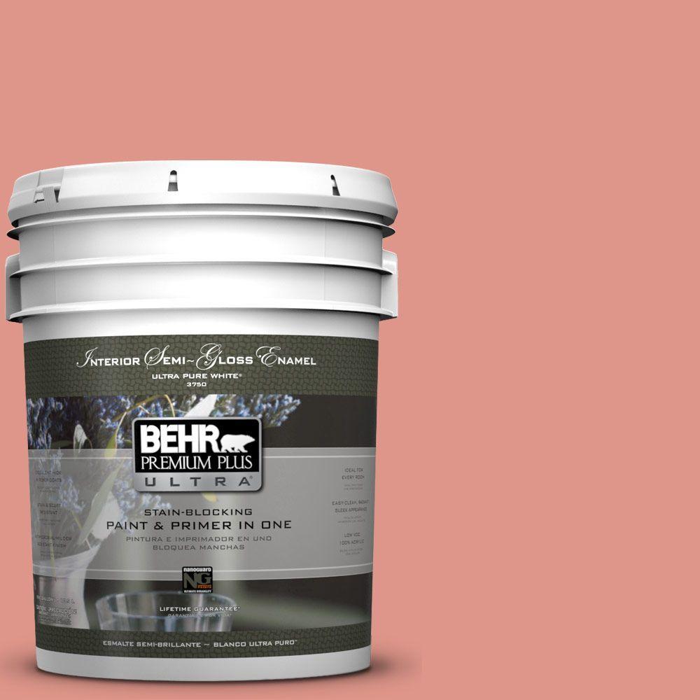 5-gal. #BIC-18 Fresh Watermelon Semi-Gloss Enamel Interior Paint