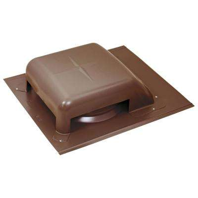 40 sq. in. NFA Galvanized Slant-Top Roof Louver Static Vent in Brown (Sold in Carton of 9 only)