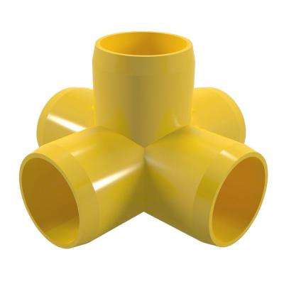 1-1/4 in. Furniture Grade PVC 5-Way Cross in Yellow (4-Pack)