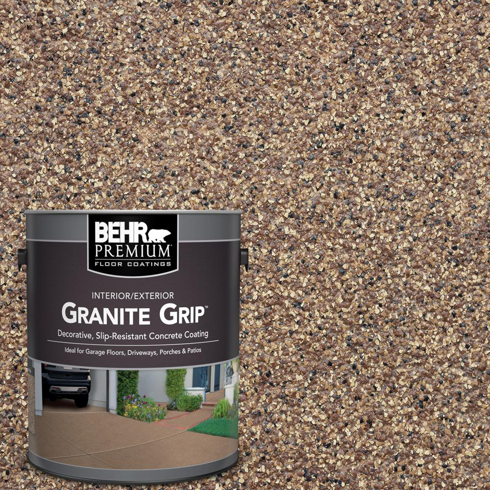 BEHR PREMIUM 1 Gal. Tan Granite Grip Decorative Flat Interior/Exterior Concrete Floor Coating