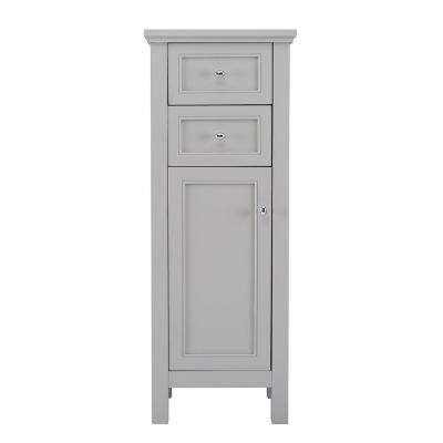 Gazette 16 in. W x 42 in. H x 14 in. D Bathroom Linen Storage Floor Cabinet in Grey