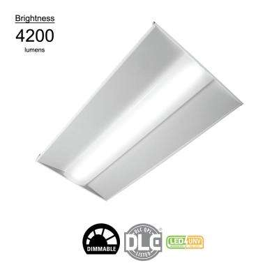 2 ft. x 4 ft. White Integrated LED Architectural Troffer with 4200 Lumens, 4000K, Dimmable