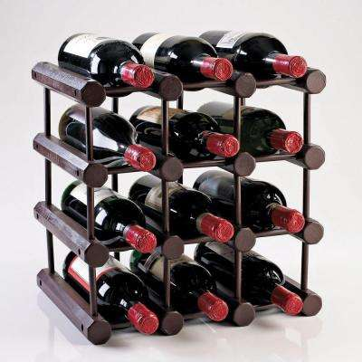 Modular 12-Bottle Wine Rack in Mahogany