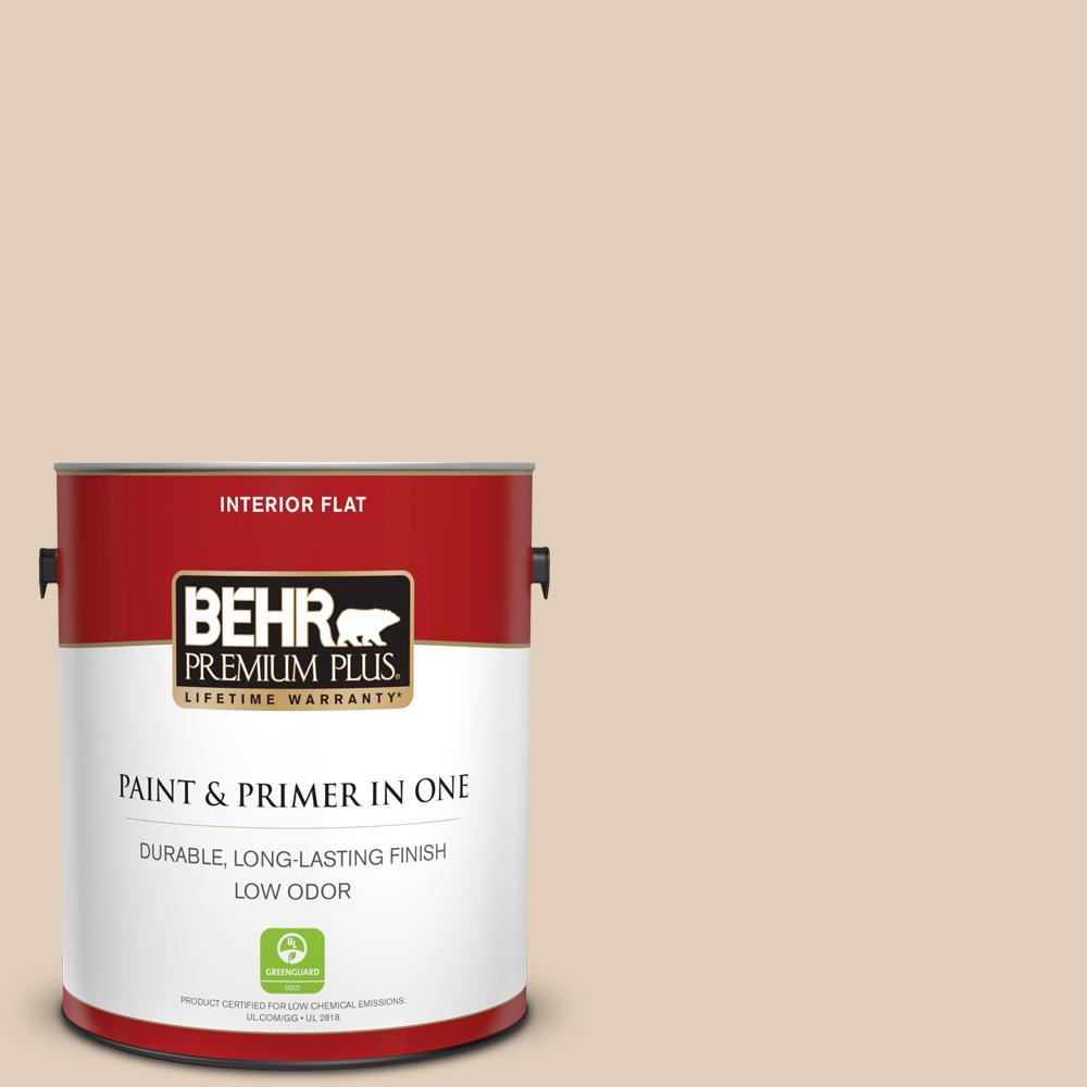 Behr Premium Plus 1 Gal Pwn 66 Toasted Cashew Flat Low Odor Interior