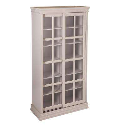 Beesly Warm Gray Sliding-Door Cabinet