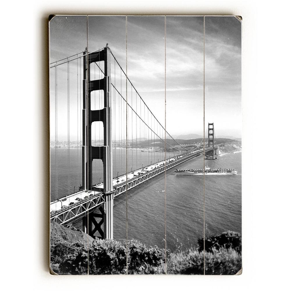 1937 San Francisco Golden Gate Bridge By Underwood Photo Archive Planked Wood Wall Art 0000 4954 26 The Home Depot