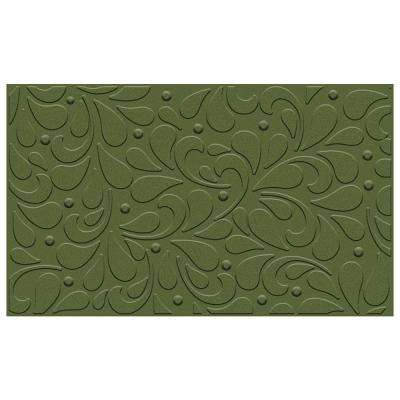 Mistletoe Fleur 18 in. x 30 in. Impressions Holiday Mat