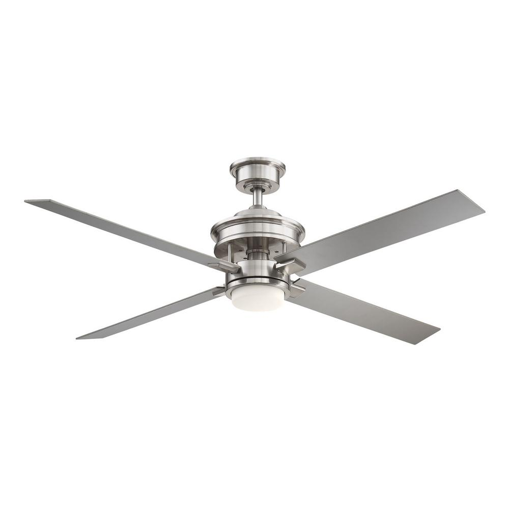Home Decorators Collection Lincolnshire  60 in. LED Brushed Nickel Ceiling Fan with Light