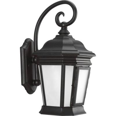 Crawford Collection Black 16.75 in. Outdoor Wall Lantern Sconce