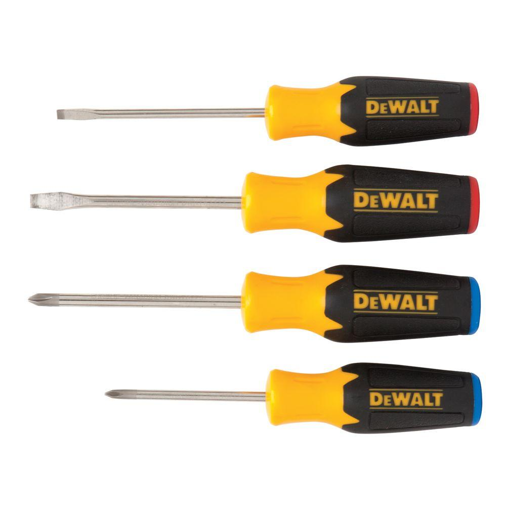 dewalt 4 piece screwdriver set dwht62512 the home depot. Black Bedroom Furniture Sets. Home Design Ideas