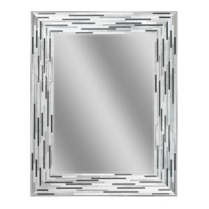 Deco Mirror 30 inch L x 24 inch W Reeded Charcoal Tiles Wall Mirror by Deco Mirror