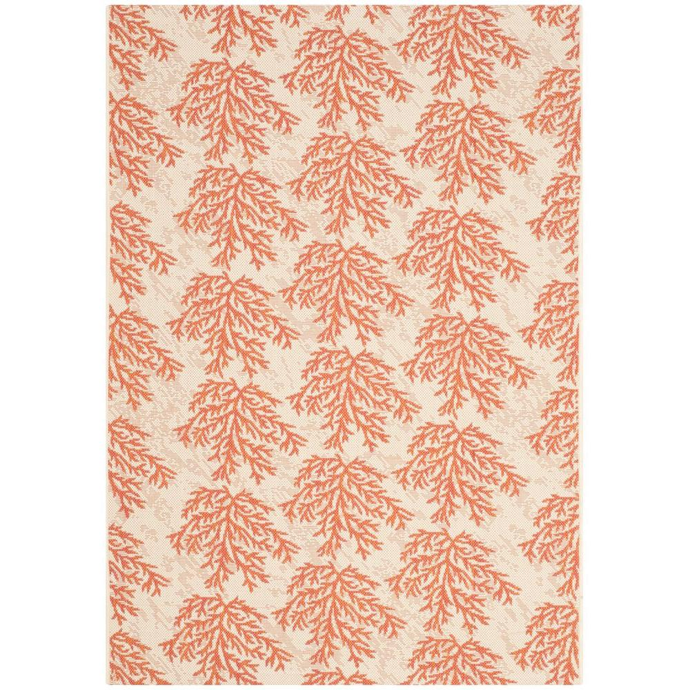 Courtyard Beige/Terracotta 4 ft. x 5 ft. 7 in. Indoor/Outdoor Area