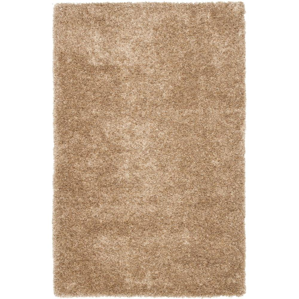 Safavieh Malibu Shag Natural 6 ft. x 9 ft. Area Rug