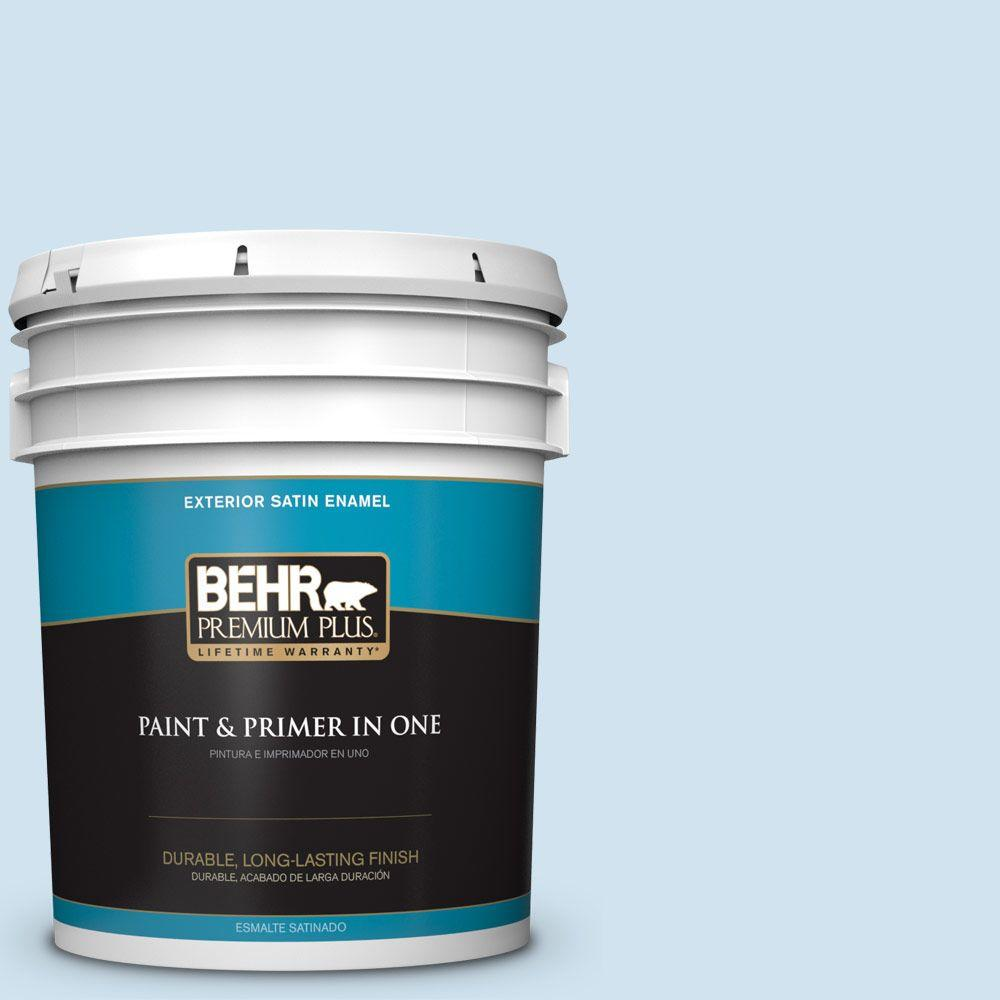 BEHR Premium Plus 5-gal. #M520-1 Vaporize Satin Enamel Exterior Paint
