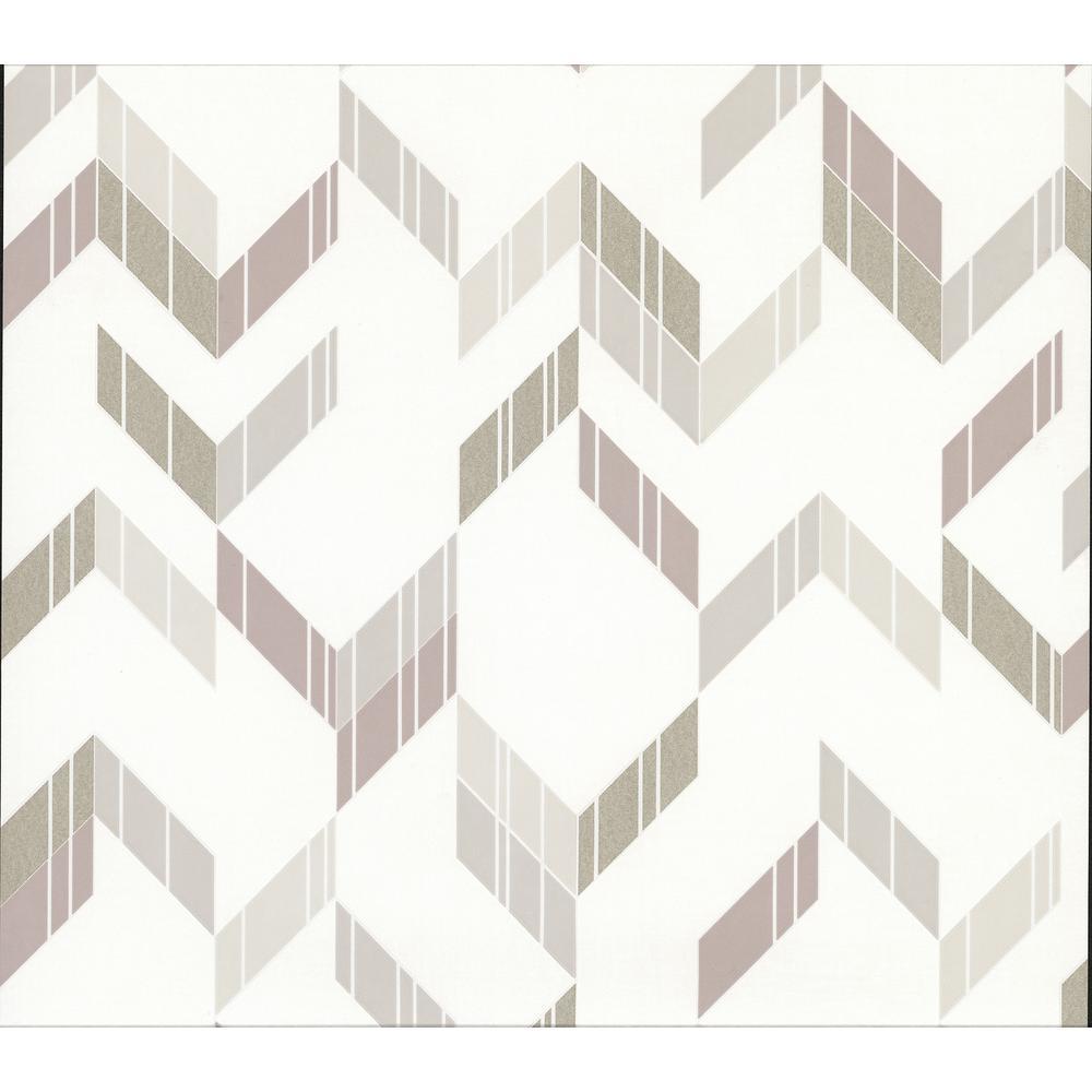 Verity Neutral Herringbone Wallpaper
