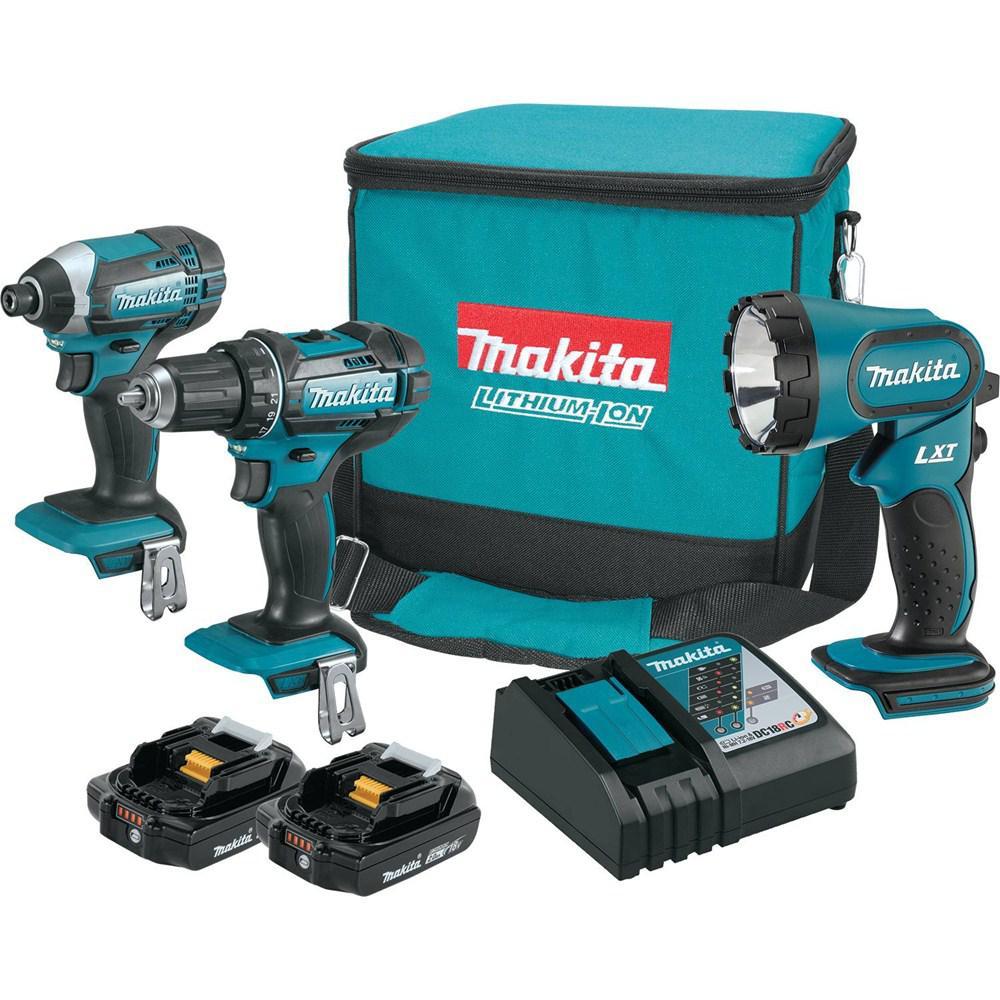 Makita 18-Volt Compact Lithium-Ion Cordless Drill/Impact ...