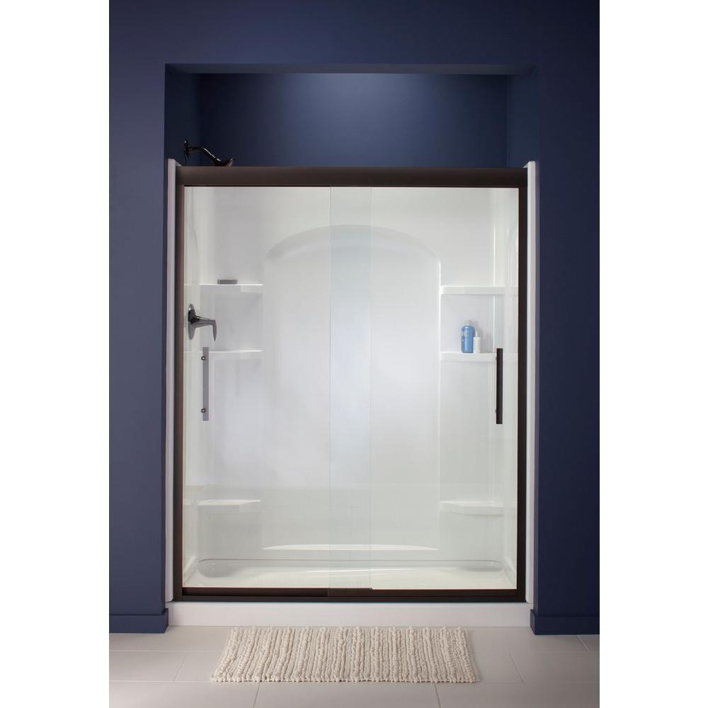 Finesse 47-5/8 in. x 70-1/16 in. Heavy Sliding Shower Door in