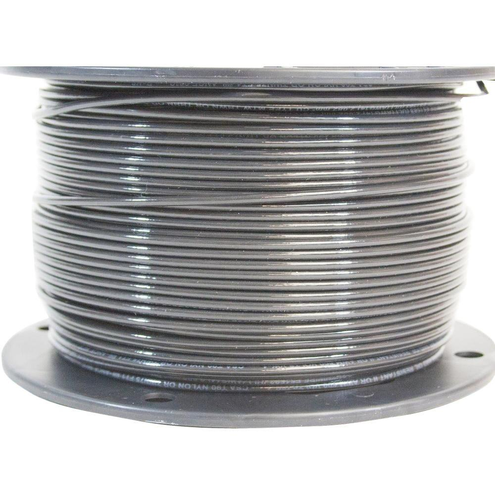 Southwire 500 ft. 14 Black Stranded CU THHN Wire-22955958 - The Home ...