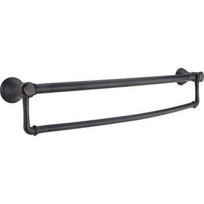 Decor Assist Traditional 24 in. Towel Bar with Assist Bar in Venetian Bronze