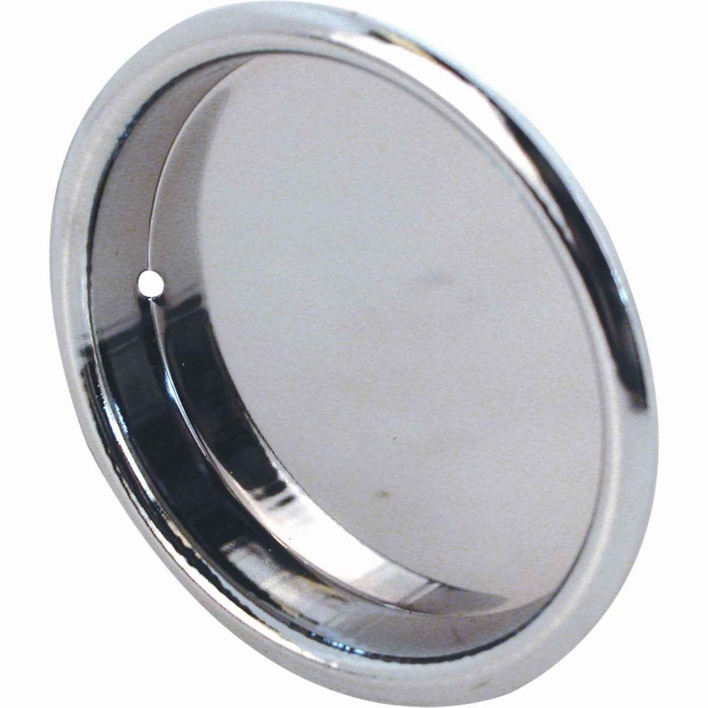 Chrome Sliding Wardrobe Door Pulls (2 Pack)
