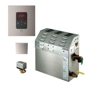 Mr. Steam 9kW Steam Bath Generator with iTempo AutoFlush Square Package in Brushed Nickel by Mr. Steam