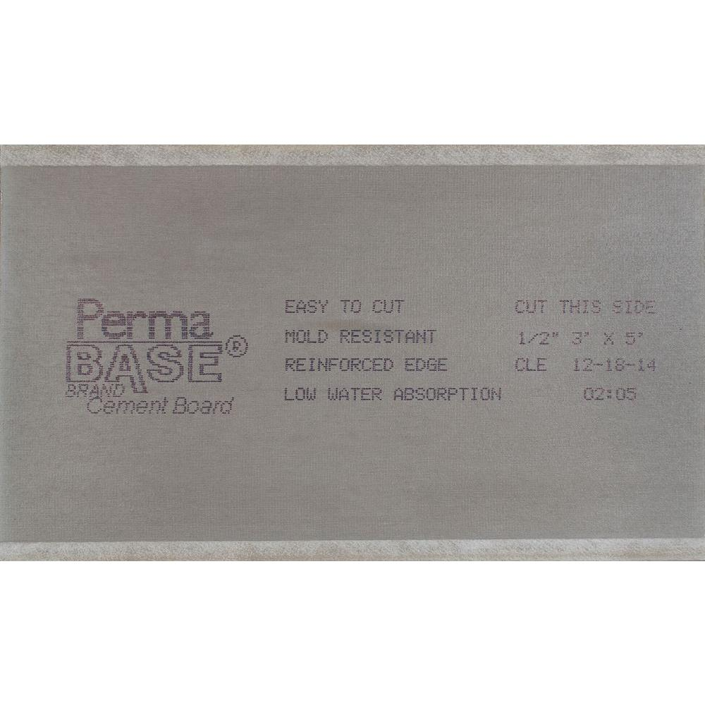 Permabase 1/2 in  x 3 ft  x 5 ft  Cement Board