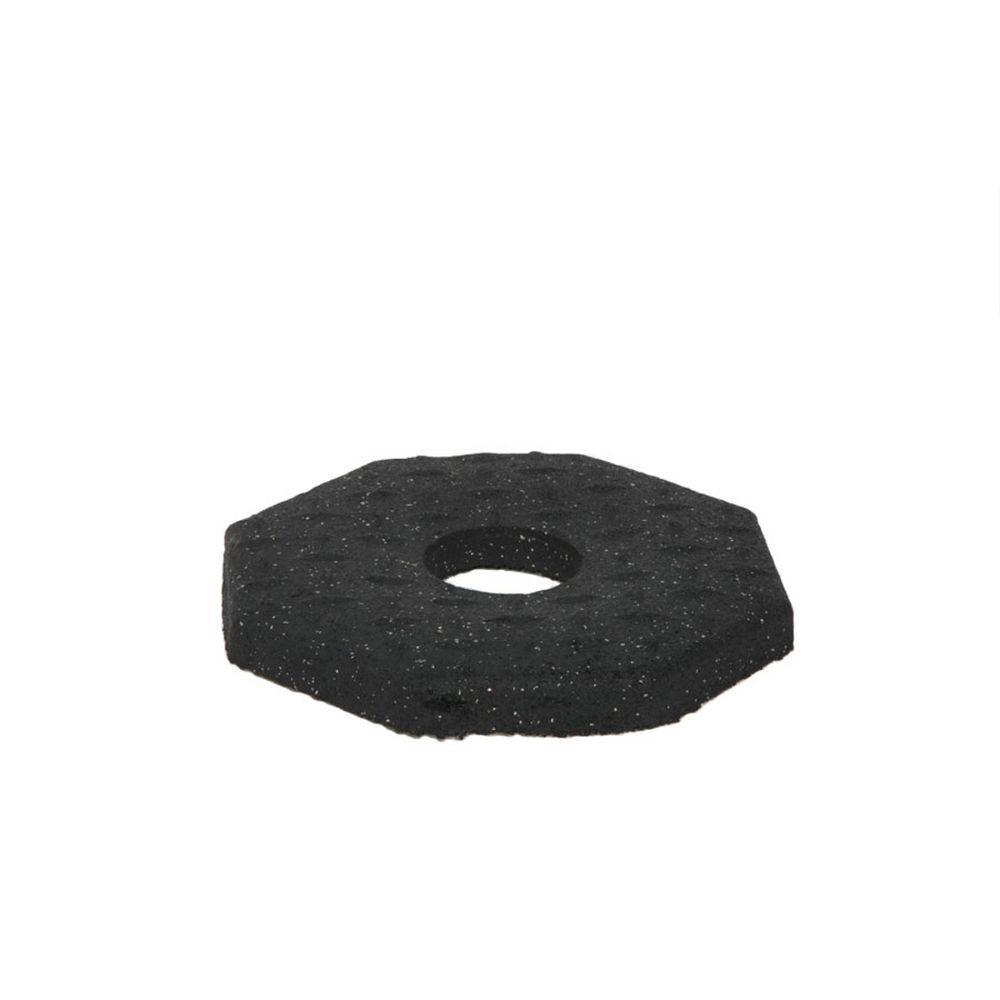 8 lb. Black Rubber Delineator Base