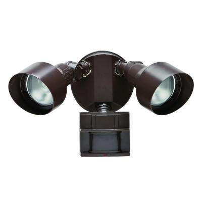 110-Degree Bronze Motion Outdoor Security Light