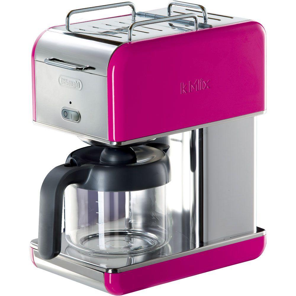 DeLonghi kMix 10-Cup Coffee Maker in Magenta