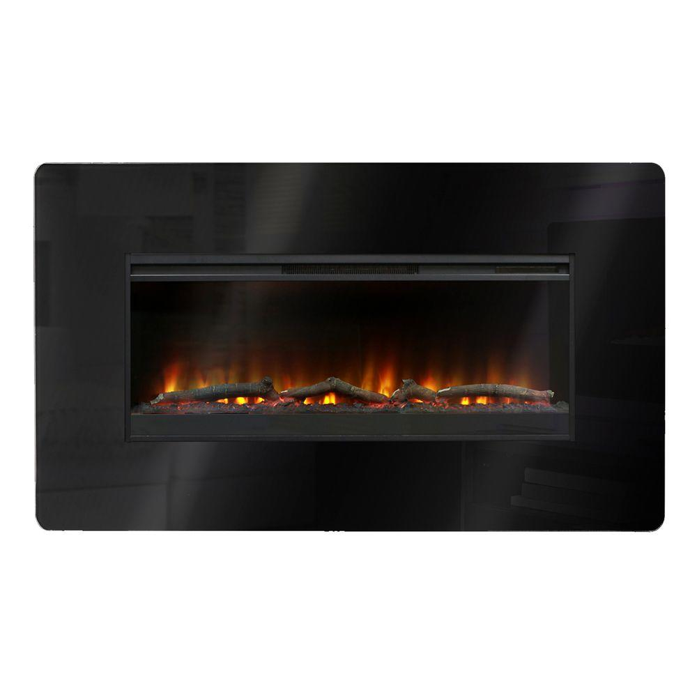 Muskoka 57 in. Wall-Mount Electric Fireplace in Black