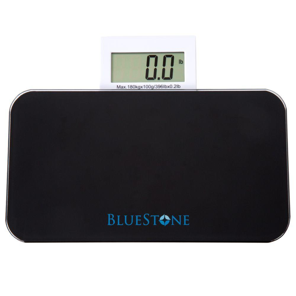 . Bluestone Glass Digital Body Scale with Expandable Readout in Black