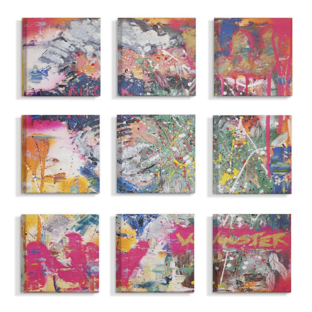 stupell industries 12 in x 12 in colorful paint splatter art