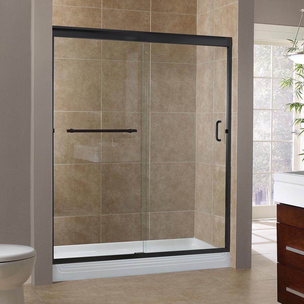 Foremost Marina 60 In X 72 In H Semi Framed Sliding Shower Door In