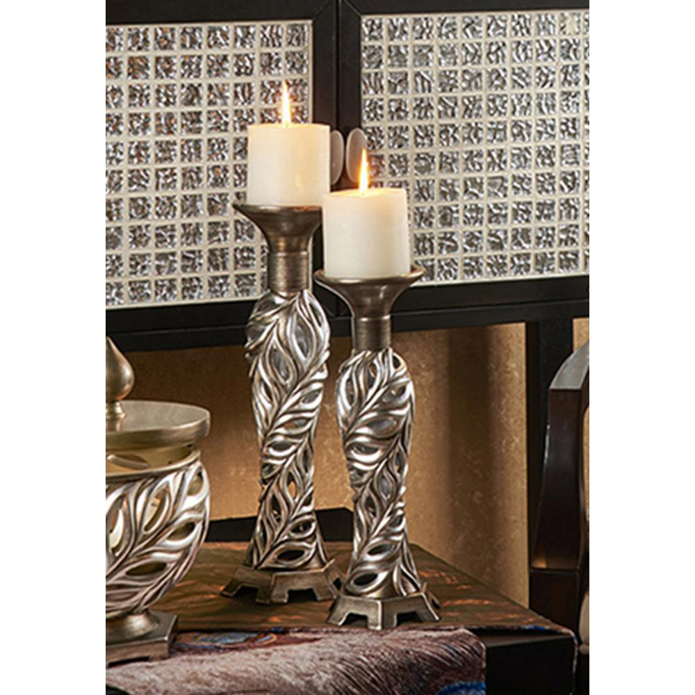 12 in. and 14 in. Kiara Candle Holder Set