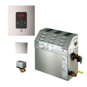 Mr. Steam 6kW Steam Bath Generator with iTempo AutoFlush Square Package in Polished Nickel by Mr. Steam