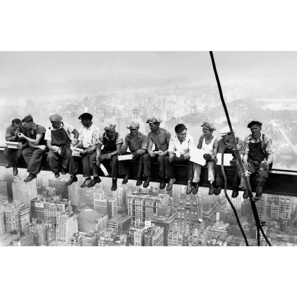 45 in. x 69 in. Eating Above Manhattan Wall Mural